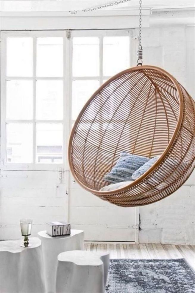 16 Adorable Rattan Hanging Chair Design Ideas 38