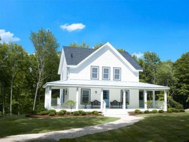 16 Best Alluring Farmhouse Front Porch Decoration Ideas 29 1