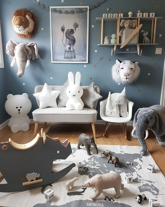 16 Popular Baby Boy Nursery Room With Animal Designs 29