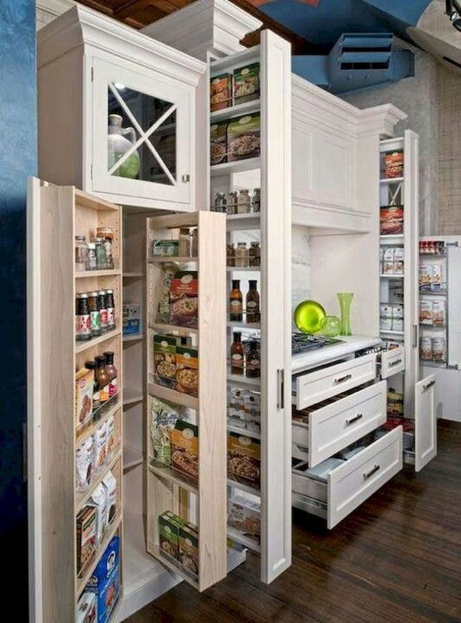 17 Adorable Space Saving Kitchen Pantry Ideas 23