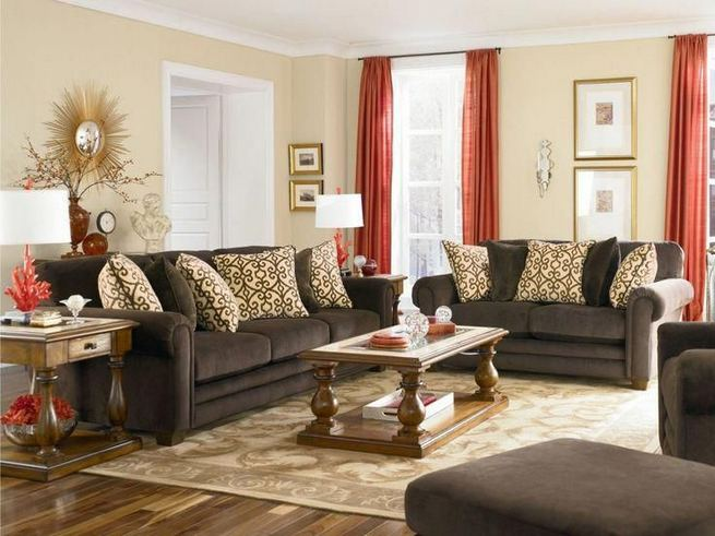 17 Attractive Brown Leather Living Room Furniture Ideas 05