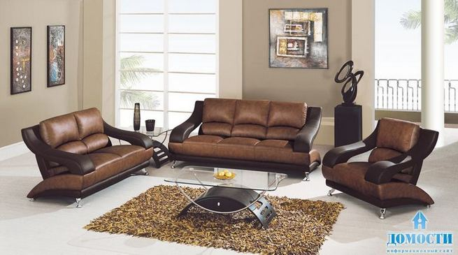 17 Attractive Brown Leather Living Room Furniture Ideas 11