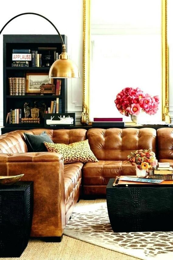 17 Attractive Brown Leather Living Room Furniture Ideas 13