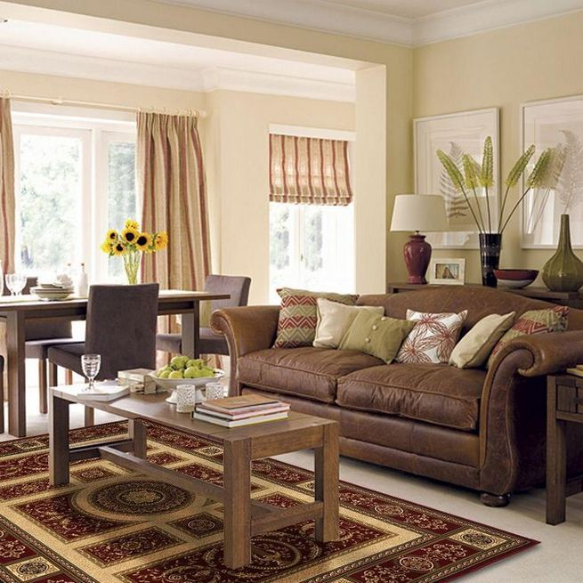 17 Attractive Brown Leather Living Room Furniture Ideas 24