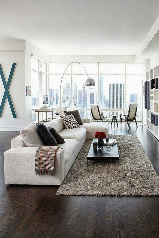 17 Magnificient White Modern Living Room Ideas 23