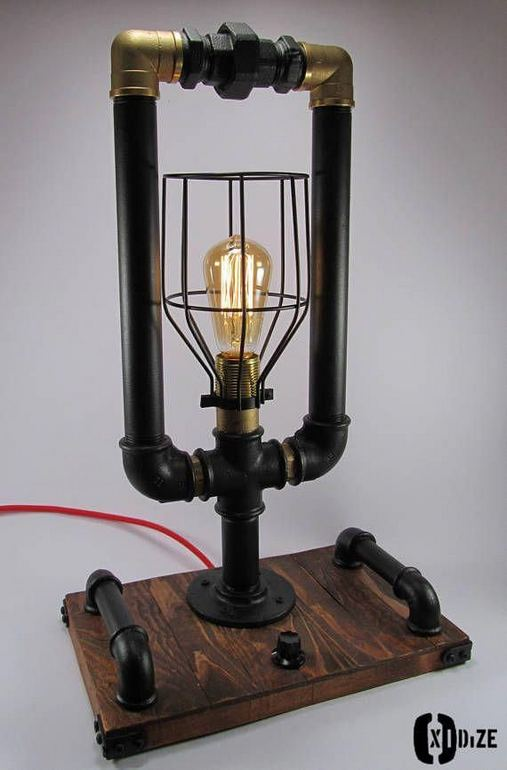 18 Adorable Industrial Floor Lamp Ideas For Living Room 03