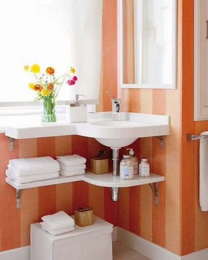 19 Cool Creative Bathroom Wall Shelves Ideas For Small Space 07