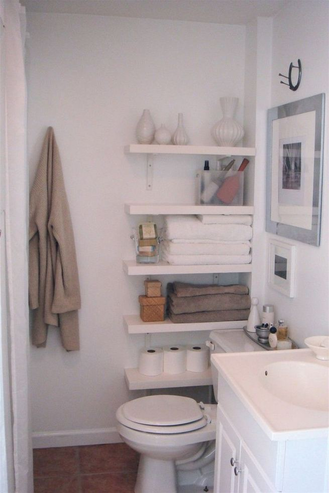 19 Cool Creative Bathroom Wall Shelves Ideas For Small Space 17