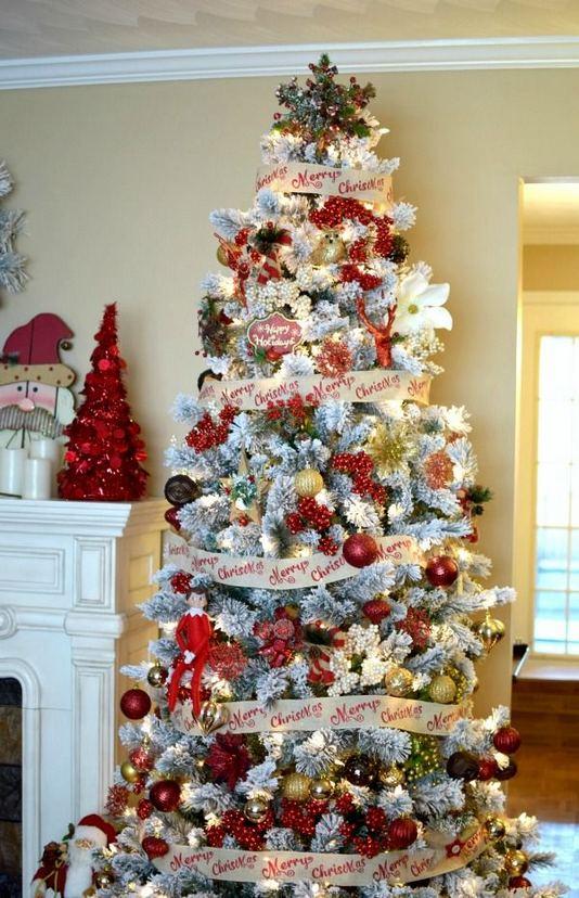 11 Pretty Ideas Christmas Tree Themes Home Decor Everyday 12