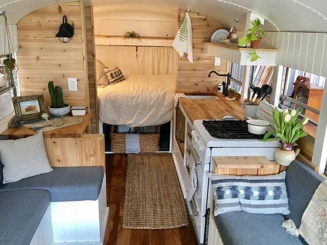 14 Best RV Camper Van Interior Decorating Ideas 03