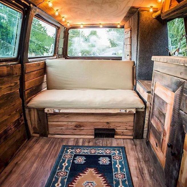 14 Best RV Camper Van Interior Decorating Ideas 07