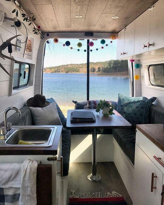 14 Best RV Camper Van Interior Decorating Ideas 32