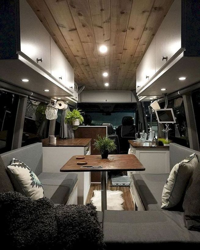 14 Best RV Camper Van Interior Decorating Ideas 34