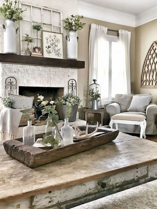 16 Cozy Farmhouse Style Living Room Decor Ideas 12