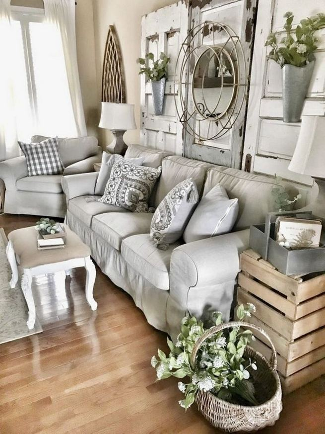 16 Cozy Farmhouse Style Living Room Decor Ideas 16