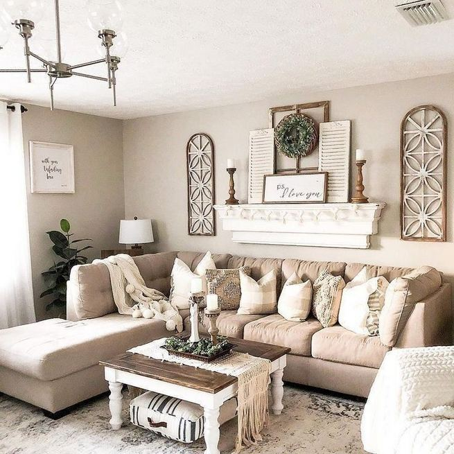 16 Cozy Farmhouse Style Living Room Decor Ideas 22