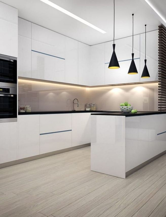16 Luxurious Black White Kitchen Design Ideas 11