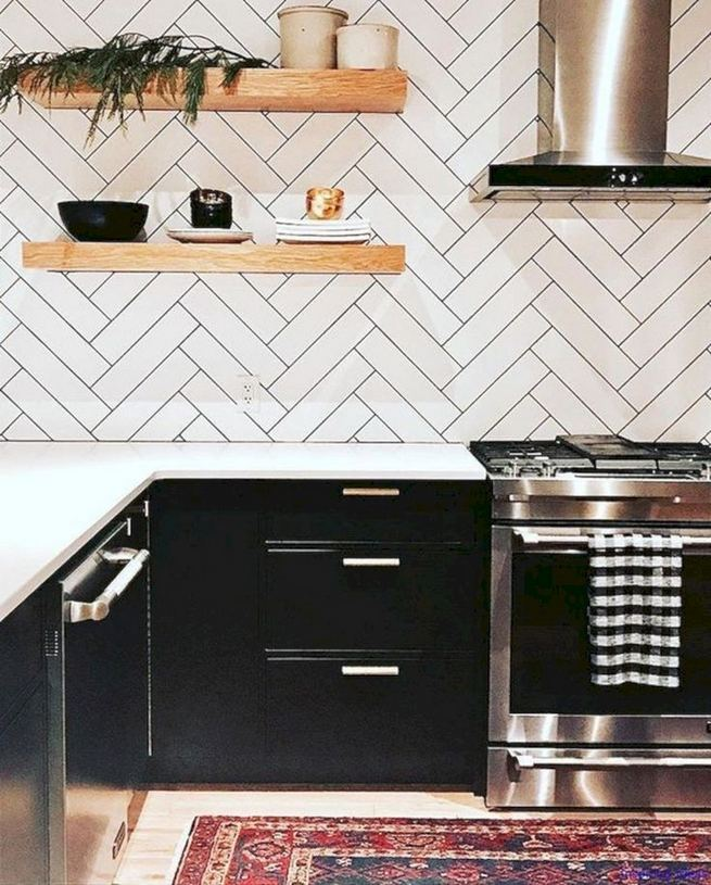 16 Luxurious Black White Kitchen Design Ideas 19