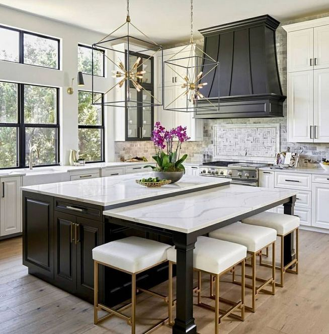 16 Luxurious Black White Kitchen Design Ideas 23