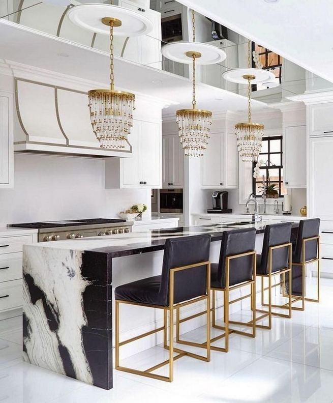 16 Luxurious Black White Kitchen Design Ideas 37