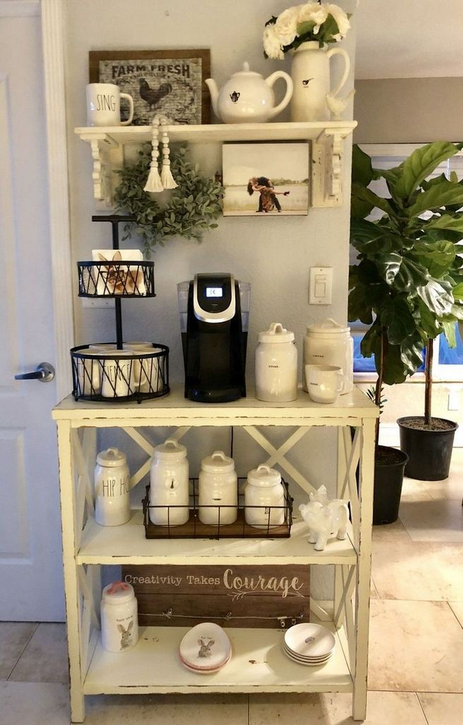 16 Stylish Home Coffee Bar Design Decor Ideas 14