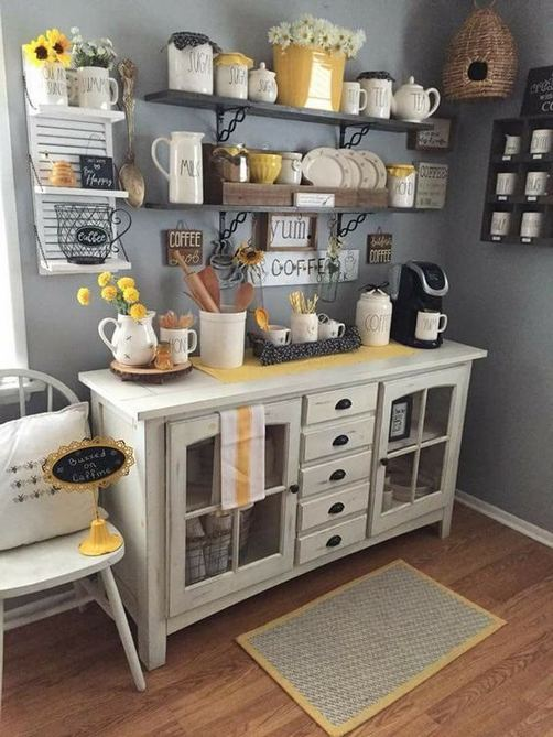 16 Stylish Home Coffee Bar Design Decor Ideas 21