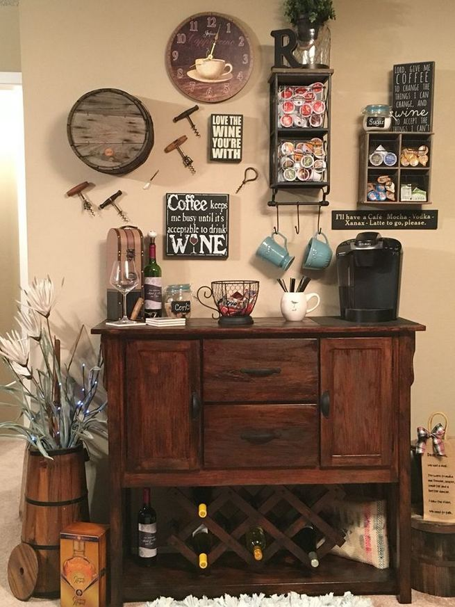 16 Stylish Home Coffee Bar Design Decor Ideas 27