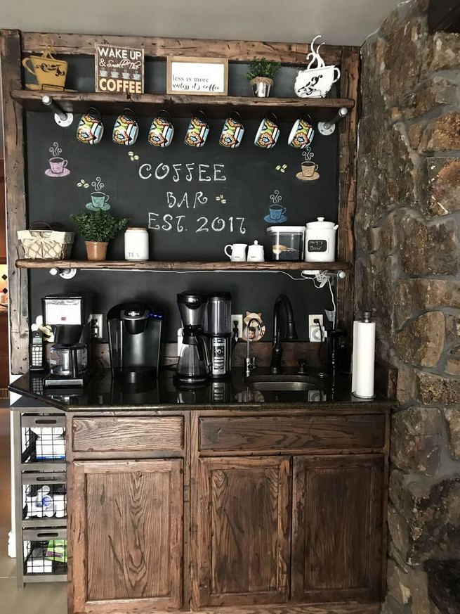 16 Stylish Home Coffee Bar Design Decor Ideas 38