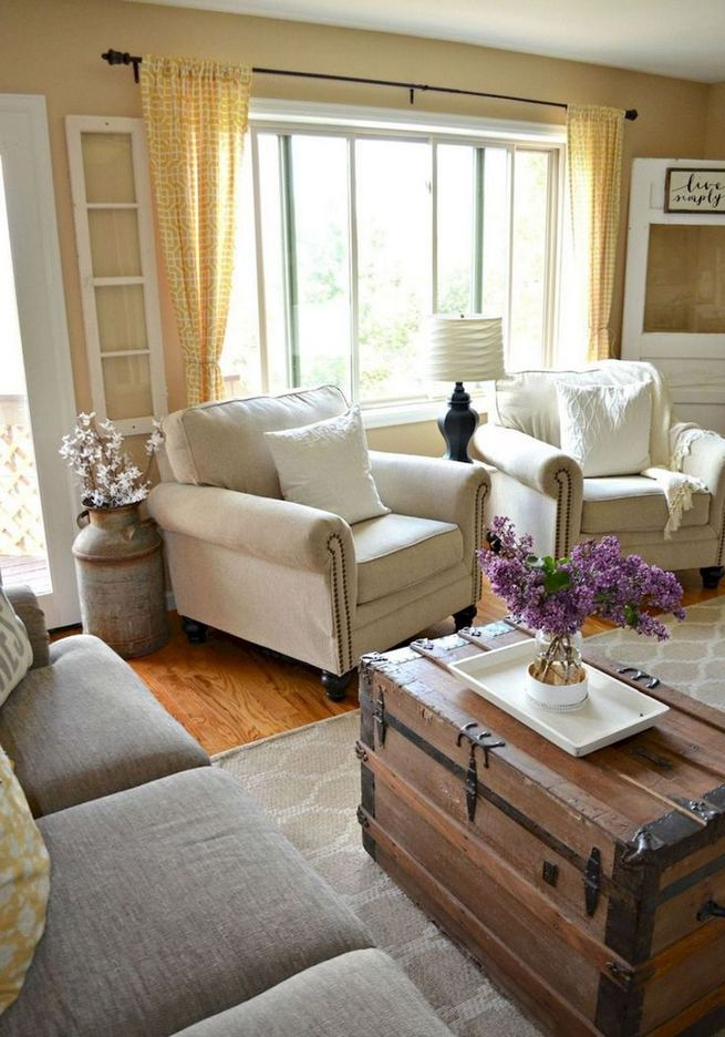 16 Wonderful Farmhouse Living Room Decor Design Ideas 15