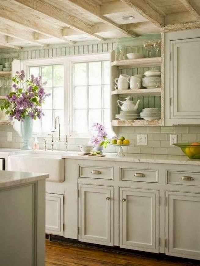 17 Inspiring Country Style Cottage Kitchen Cabinets Ideas 11
