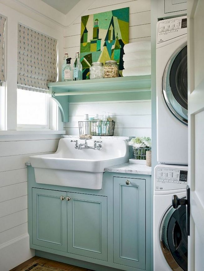 17 Top Cozy Small Laundry Room Design Ideas 16