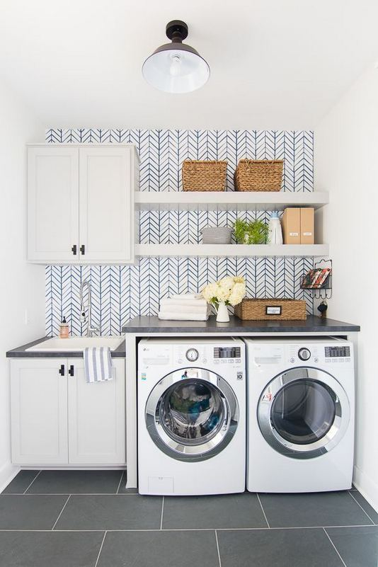 17 Top Cozy Small Laundry Room Design Ideas 19