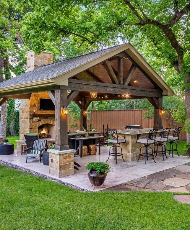 18 Gorgeous Outdoor Fireplaces And Patios Design Ideas For Your Backyard 18