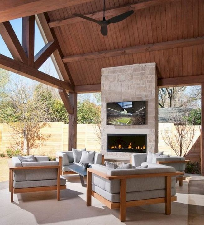 18 Gorgeous Outdoor Fireplaces And Patios Design Ideas For Your Backyard 31