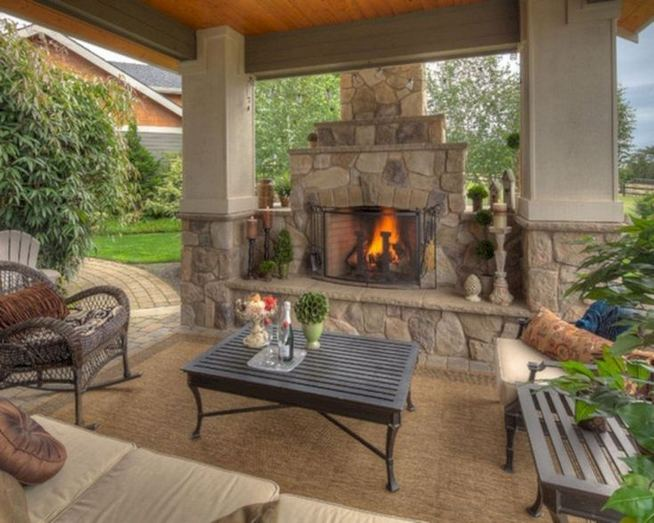 18 Gorgeous Outdoor Fireplaces And Patios Design Ideas For Your Backyard 33