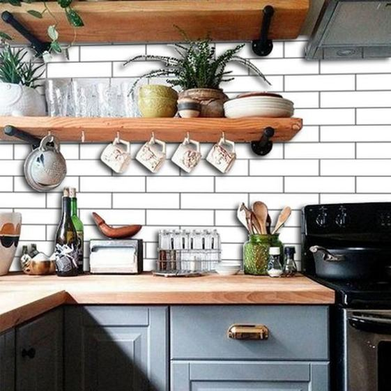 19 Clever Small Kitchen Remodel Open Shelves Ideas 13