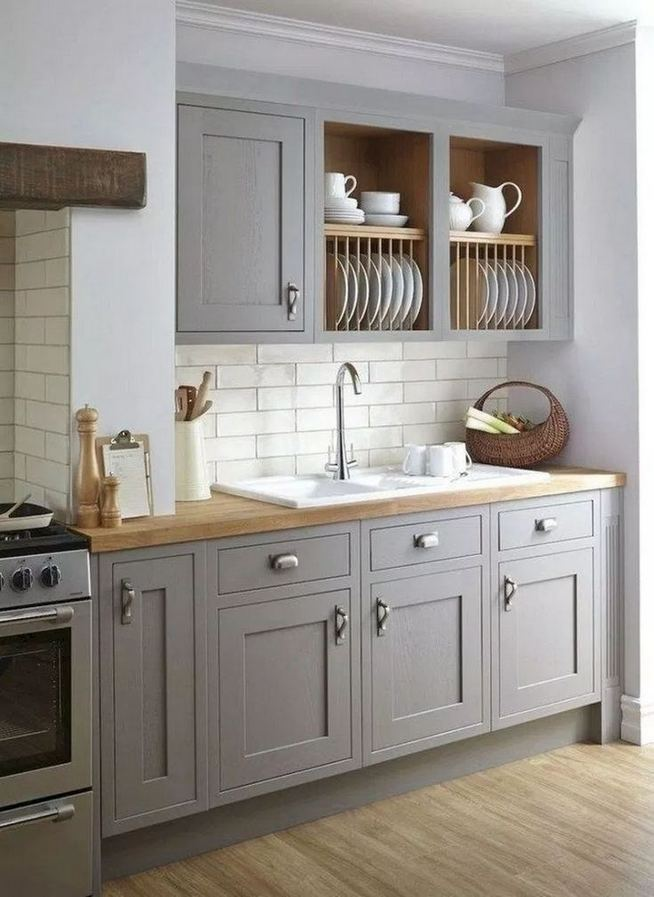19 Clever Small Kitchen Remodel Open Shelves Ideas 34