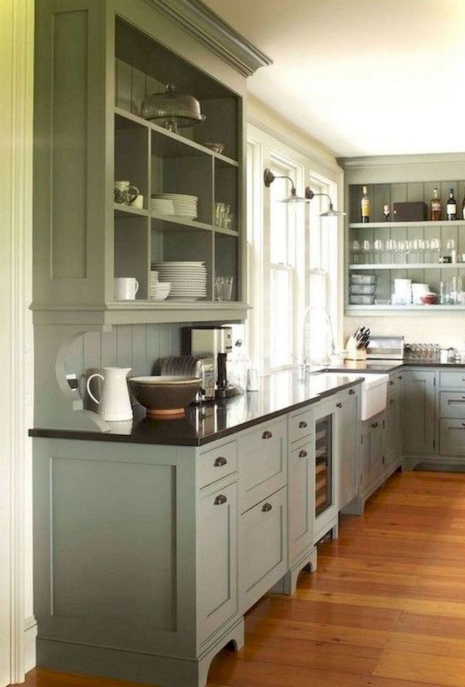 22 Stunning Farmhouse Style Cottage Kitchen Cabinets Ideas 01