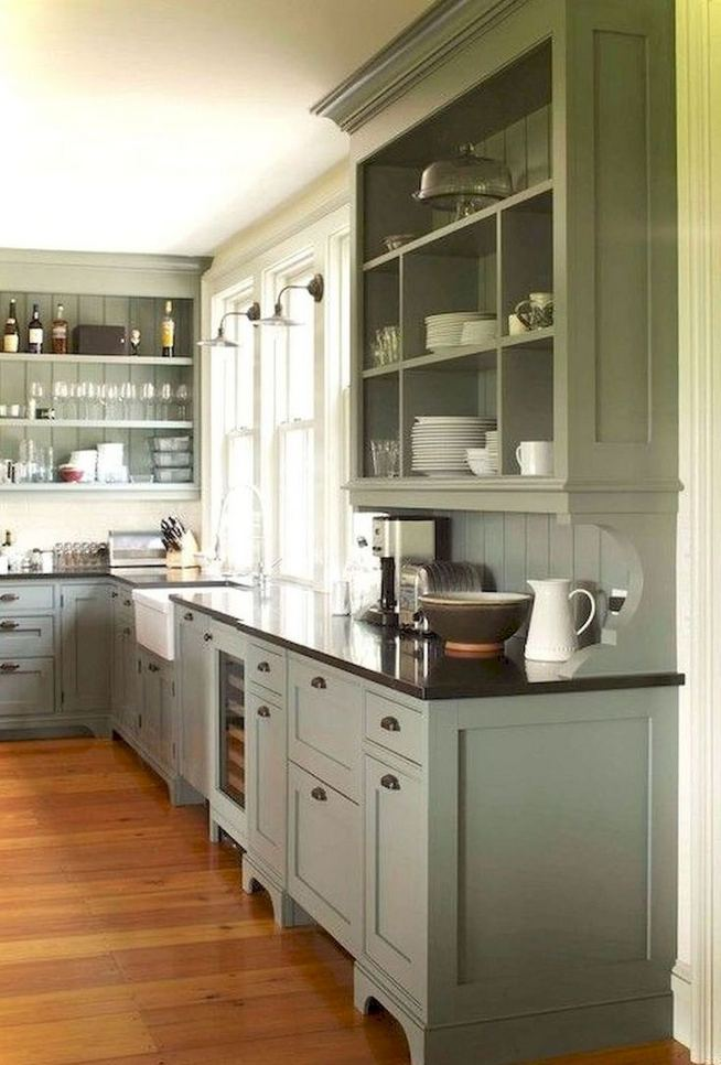 22 Stunning Farmhouse Style Cottage Kitchen Cabinets Ideas 04