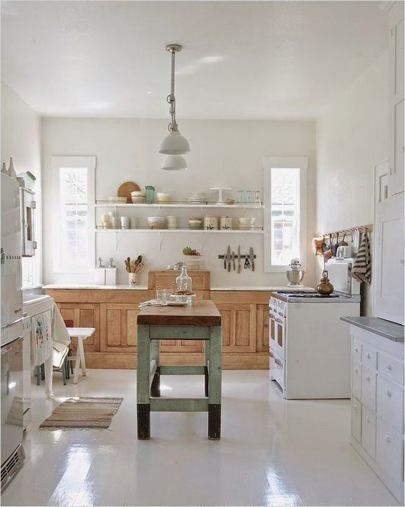 22 Stunning Farmhouse Style Cottage Kitchen Cabinets Ideas 11