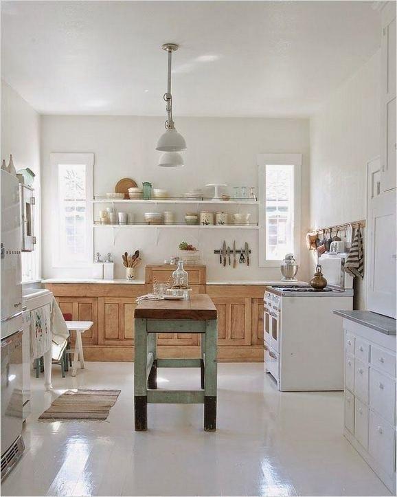 22 Stunning Farmhouse Style Cottage Kitchen Cabinets Ideas 11