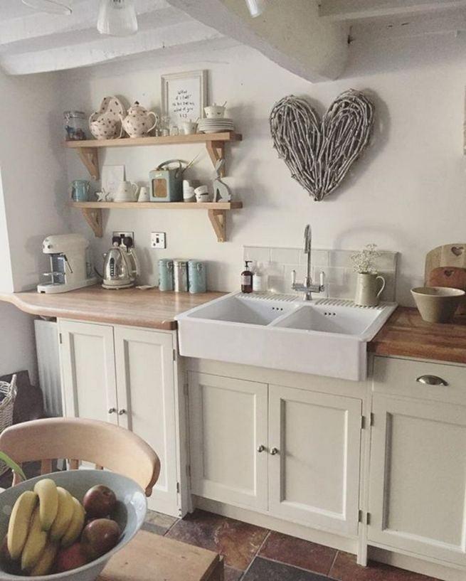 22 Stunning Farmhouse Style Cottage Kitchen Cabinets Ideas 19