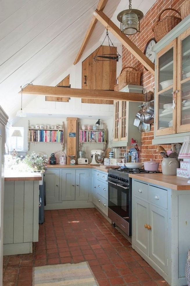 22 Stunning Farmhouse Style Cottage Kitchen Cabinets Ideas 20