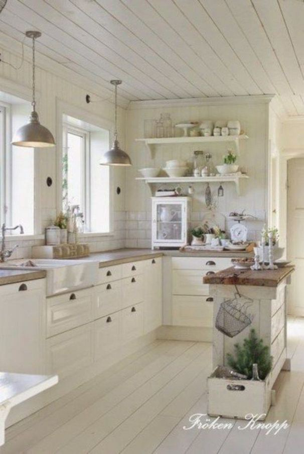 22 Stunning Farmhouse Style Cottage Kitchen Cabinets Ideas 29