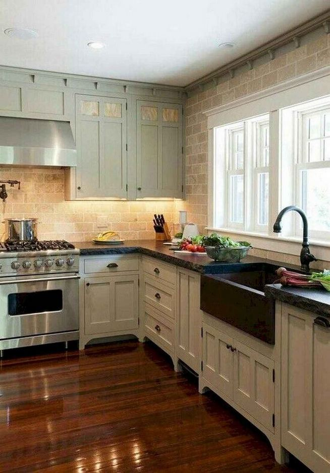 22 Stunning Farmhouse Style Cottage Kitchen Cabinets Ideas 35