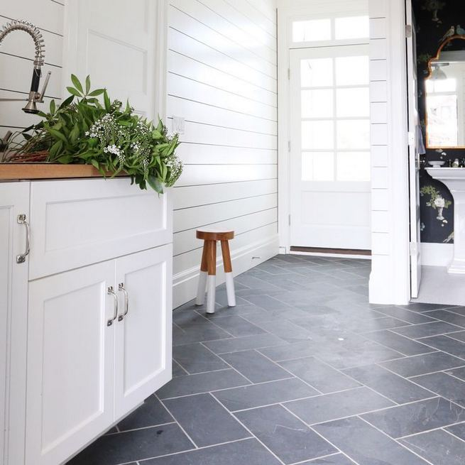 12 Beautiful Laundry Room Tile Pattern Design Ideas 11