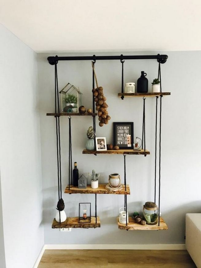 13 Creative DIY Pipe Shelves Design Ideas 02