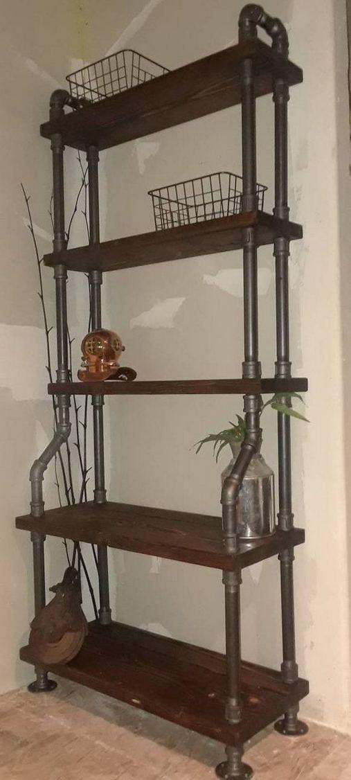 13 Creative DIY Pipe Shelves Design Ideas 12