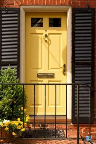 13 Fantastic Yellow Brick Home Decor Ideas For Front Door 10