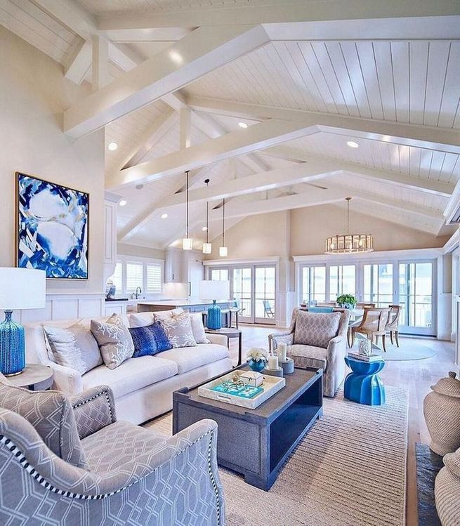 13 Inspiring Coastal Living Room Decor Ideas 20